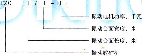 FZC型振动放矿机型号图